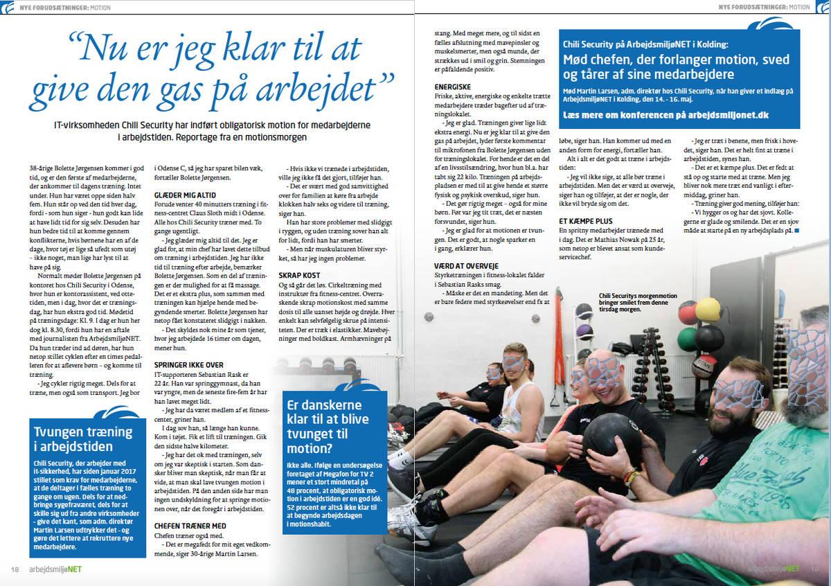 Artikel om arbejdsmiljø af journalist Søren Dam Nielsen